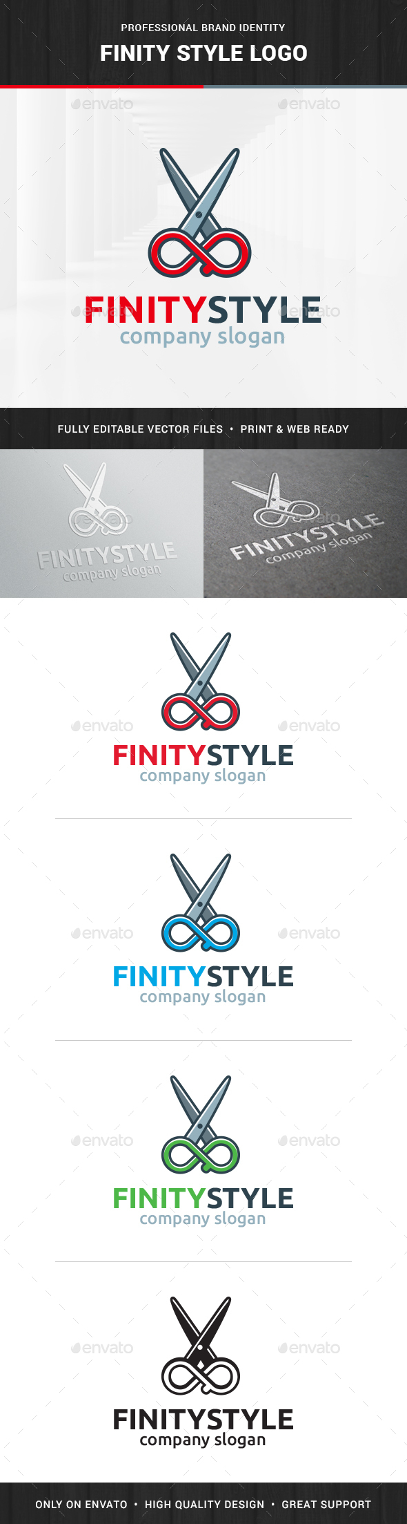 Infinity Style - Scissors Logo - Objects Logo Templates