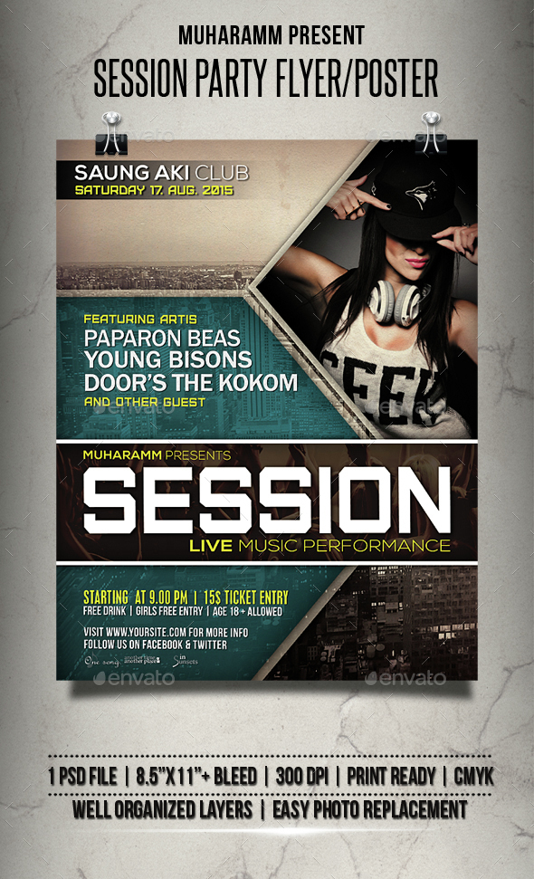 Session Party Flyer / Poster - Events Flyers