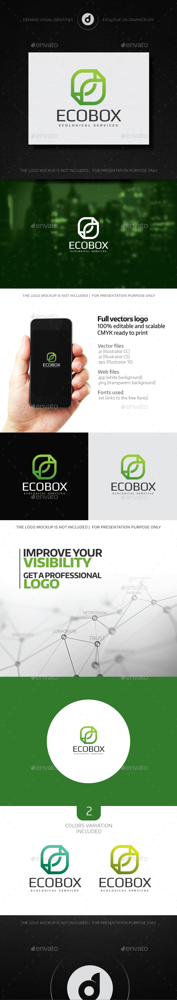 Eco Box Logo - Abstract Logo Templates