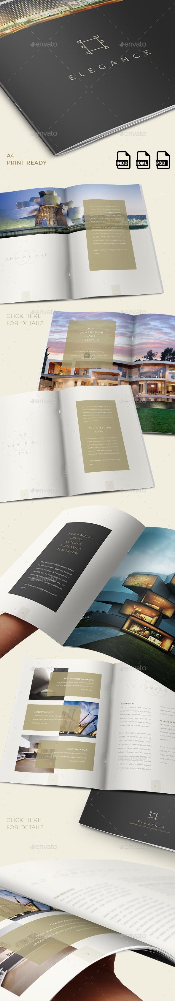Elegance Luxury Brochure - INDD+PSD - Brochures Print Templates