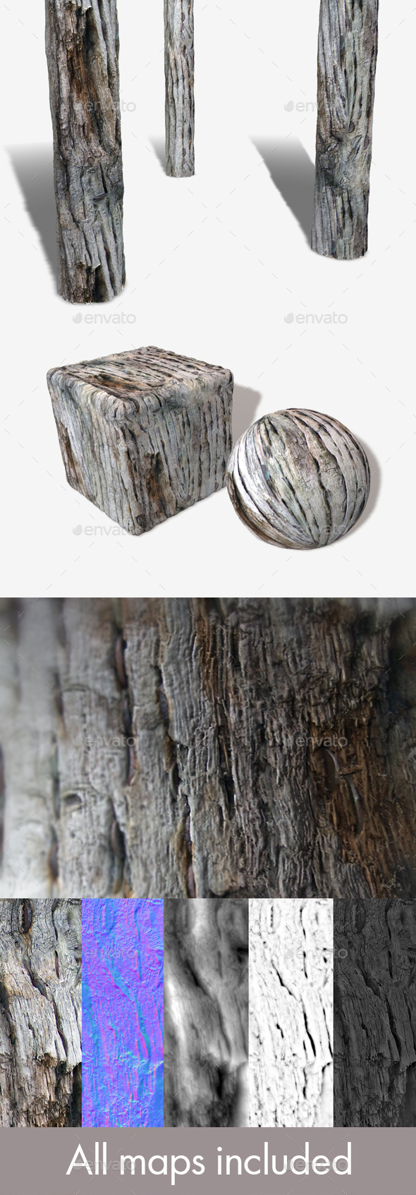 Rotten Wood Seamless Texture - 3DOcean Item for Sale
