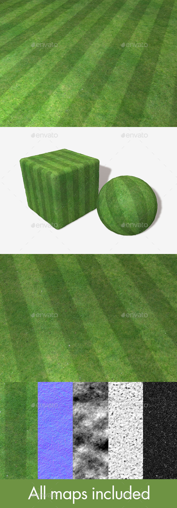 Striped High Angle Grass Seamless Texture - 3DOcean Item for Sale