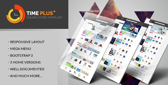 Timeplus - Mega Store Bootstrap Template - Electronics Technology