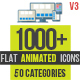 Flat Animated Icons 1000+ - VideoHive Item for Sale