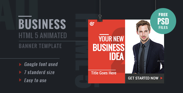GWD Business | HTML5 Google Banner Ad 17 - CodeCanyon Item for Sale