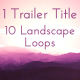 Trailer Titles Series 1 - Mystique Landscapes - VideoHive Item for Sale