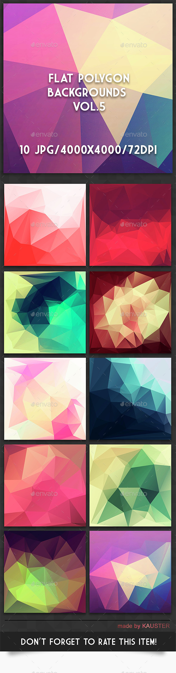 Flat Polygon Backgrounds Vol.5 - Abstract Backgrounds