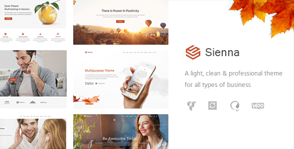 Sienna – Professional All-Purpose Business Theme