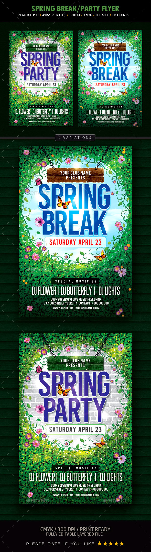 Spring Break Flyer - Events Flyers
