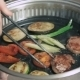 Different Vegetables And Meat On The Hot BBQ Grill - VideoHive Item for Sale