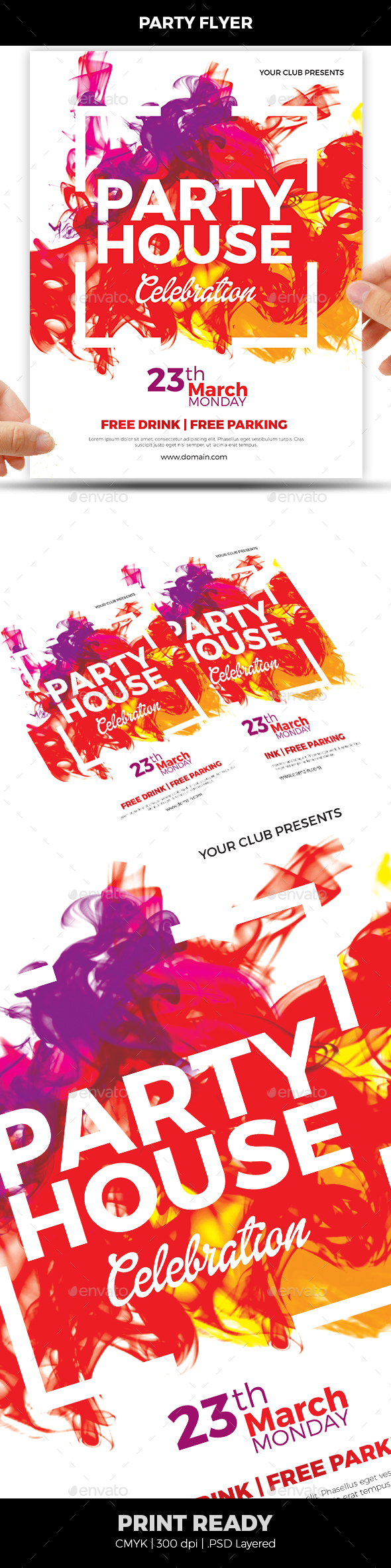 Colorful Flyer - Clubs & Parties Events