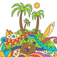 Doodle Summer Vacation Illustration - GraphicRiver Item for Sale