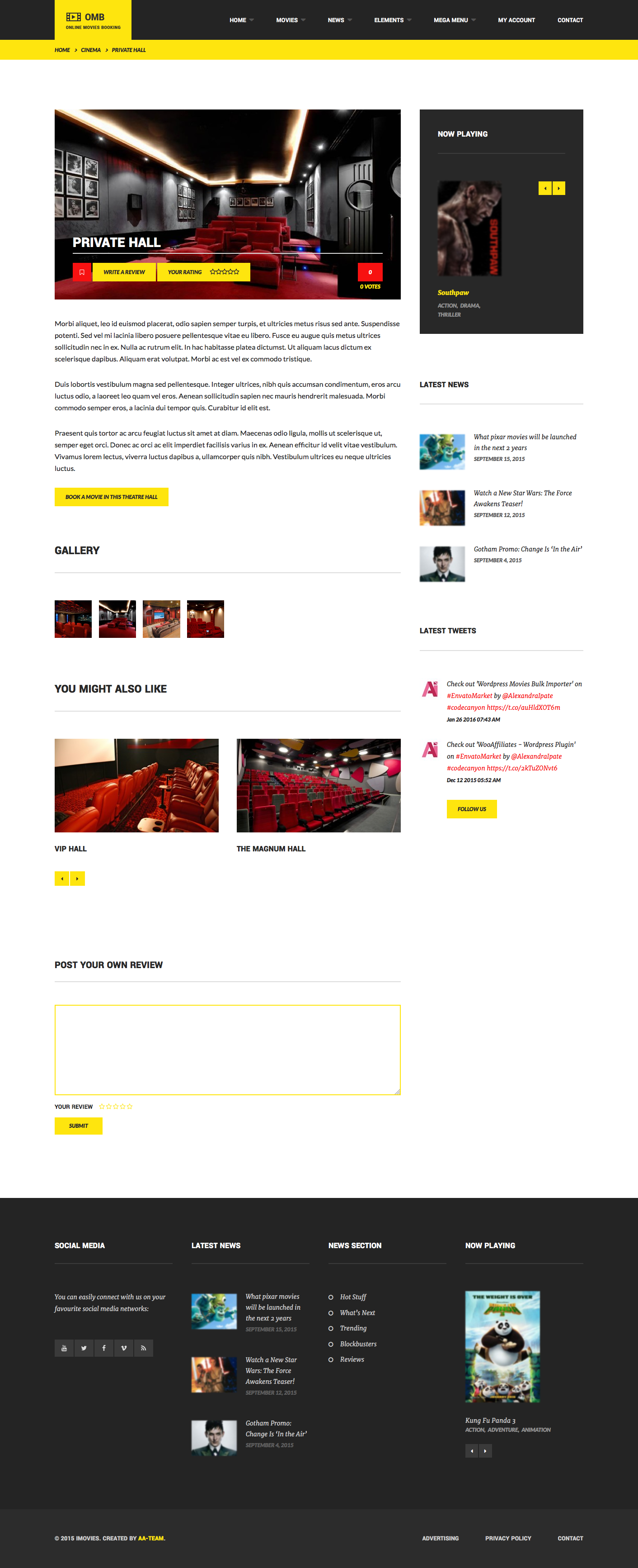 OMB - Online Movies Booking