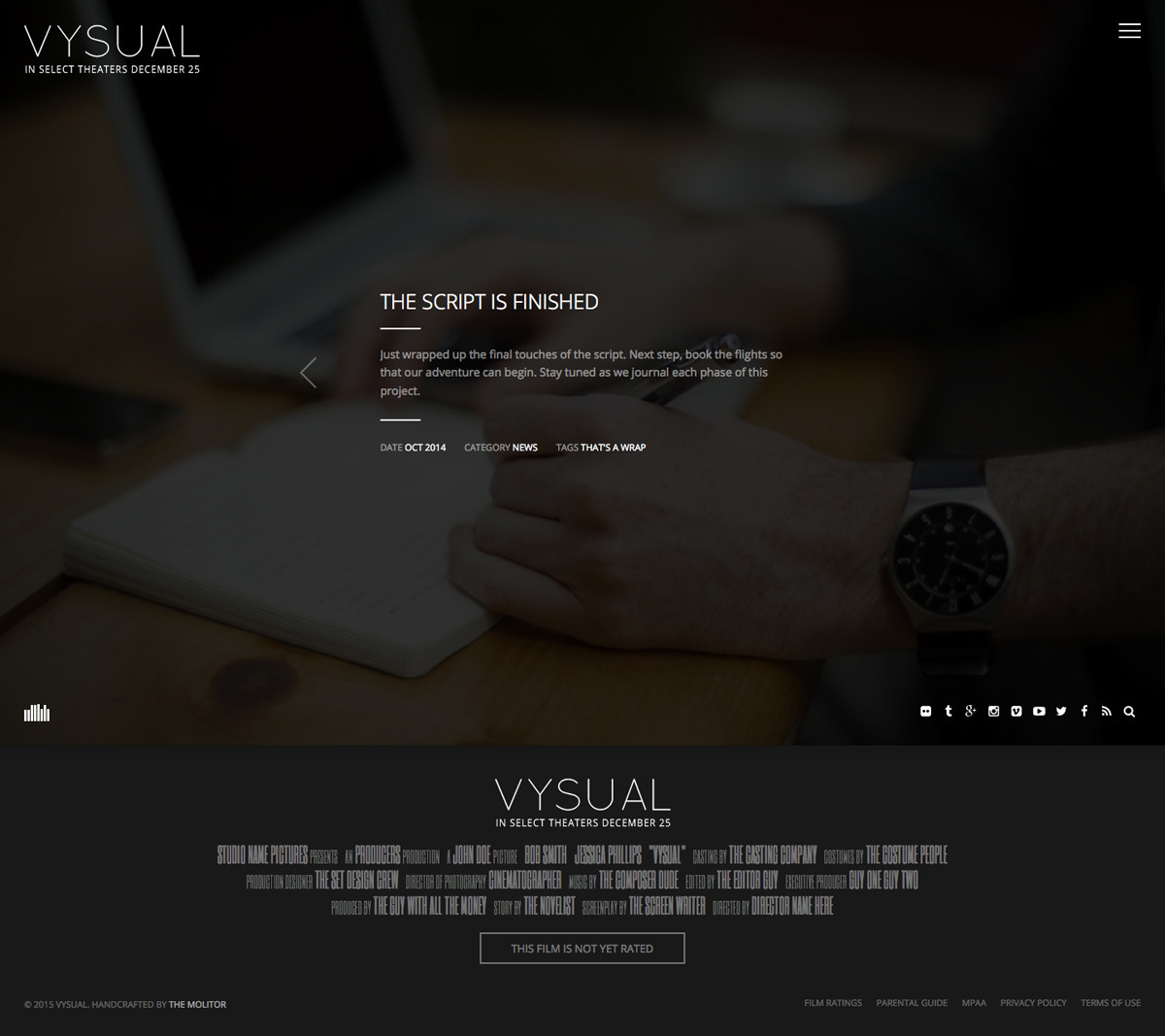 VYSUAL: Responsive Film Campaign HTML Template by theMOLITOR ...