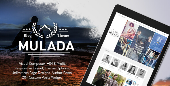 Mulada – Multi-Purpose Blog & Magazine & News Responsive WordPress Theme
