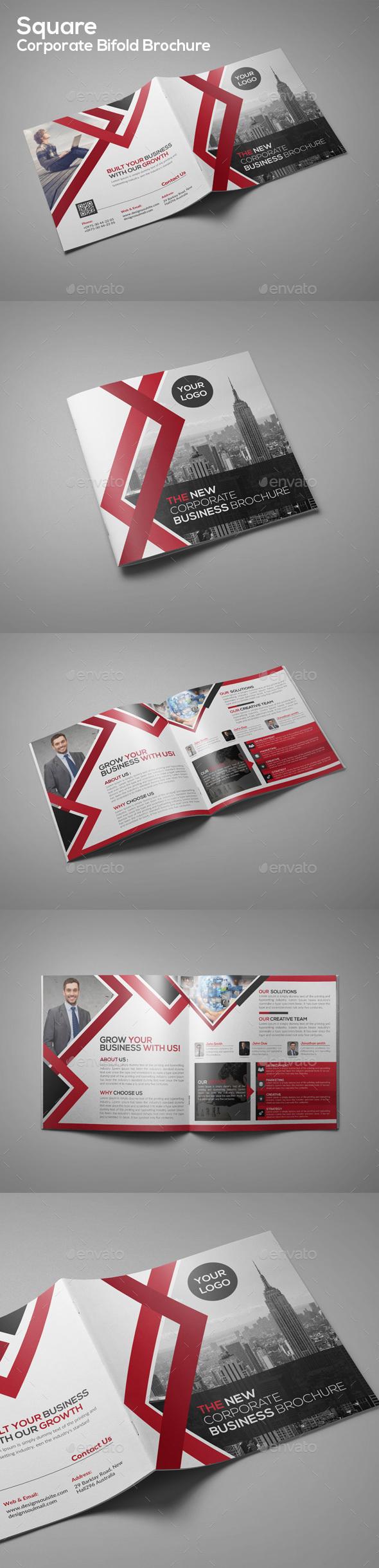 Square Corporate Bifold Brochure - Corporate Brochures
