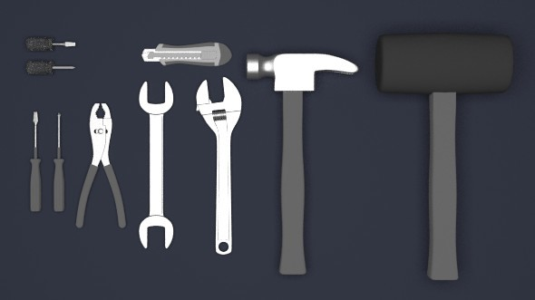 Mechanic tool set - 3DOcean Item for Sale
