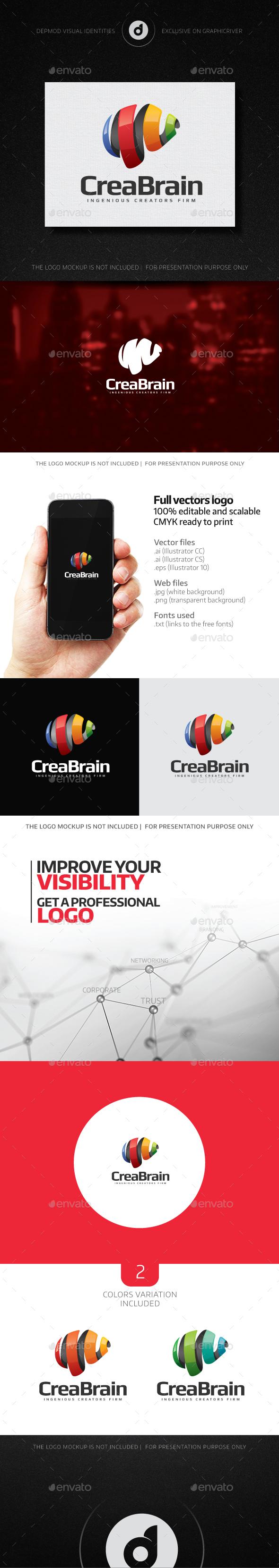 CreaBrain Logo - Abstract Logo Templates