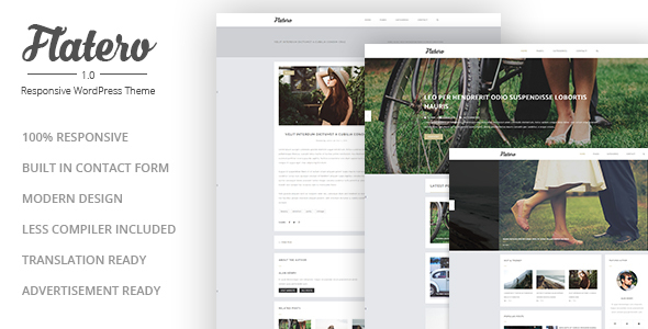 Flatero – Responsive WordPress Theme