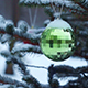 Christmas Balls on a Spruse Branch Outdoors - VideoHive Item for Sale