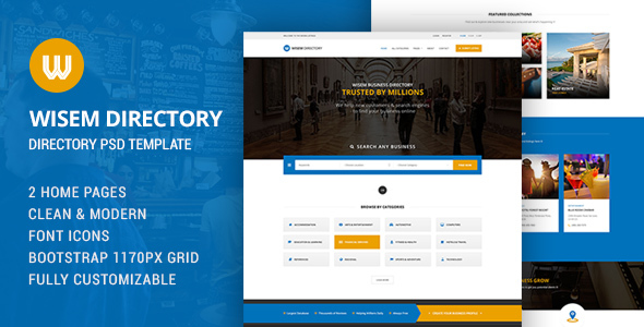 Wisem - Directory PSD - Corporate PSD Templates