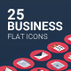 25 Business flat icons - GraphicRiver Item for Sale