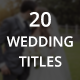 20 Wedding Titles - VideoHive Item for Sale