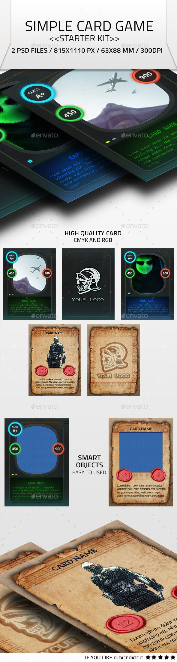Simple Card Game Kit - Miscellaneous Game Assets