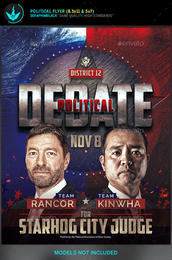 Political Debate Flyer Template  By Seraphimblack  Graphicriver