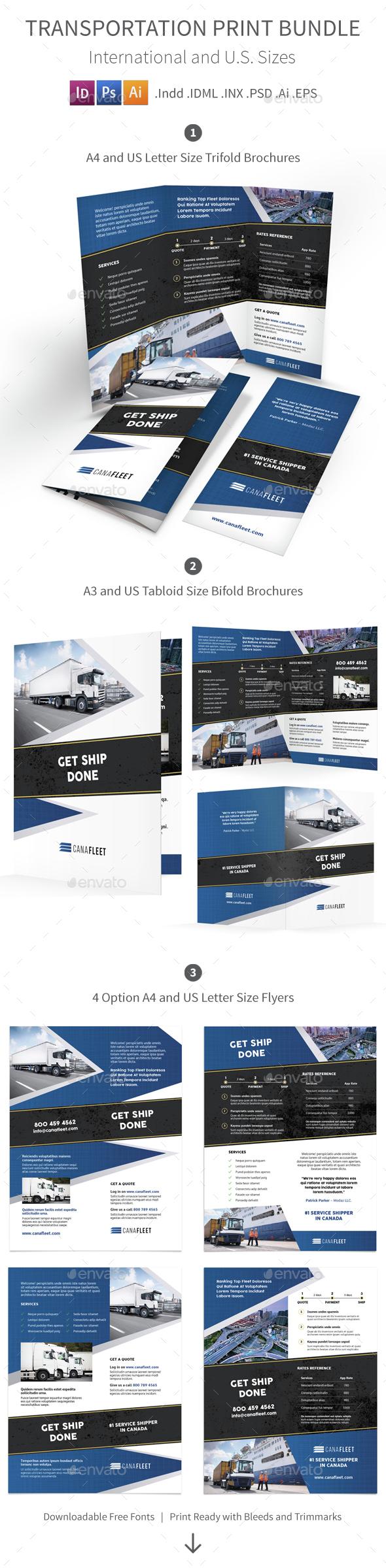 Transportation Company Print Bundle - Corporate Brochures