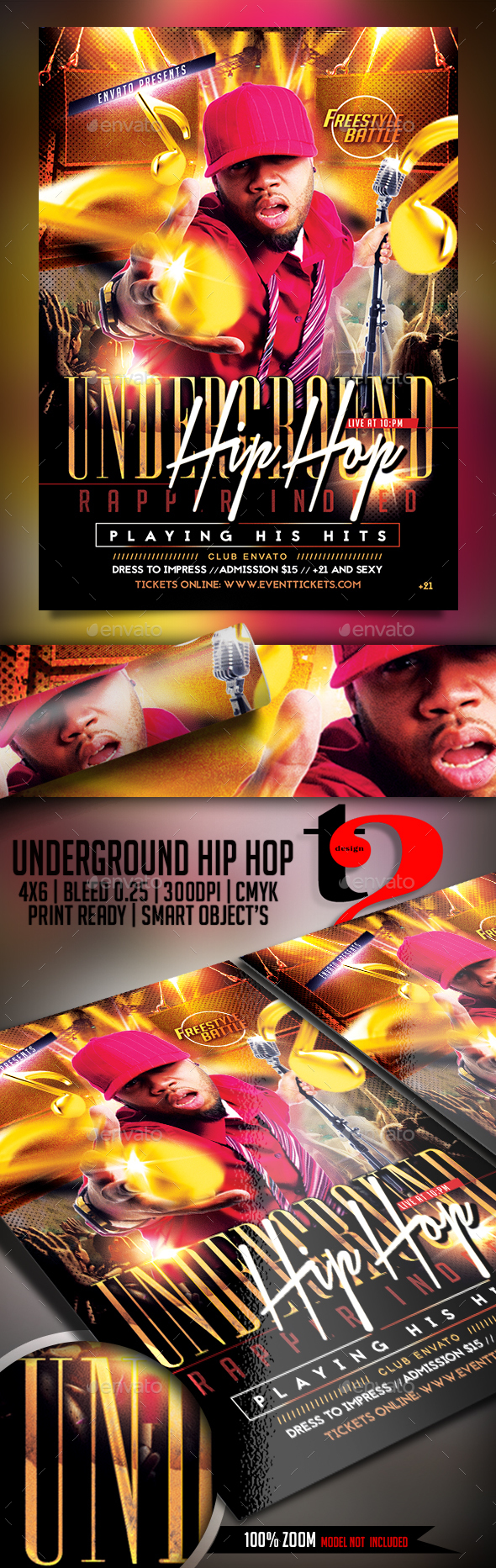 Underground Hip Hop Flyer - Clubs & Parties Events