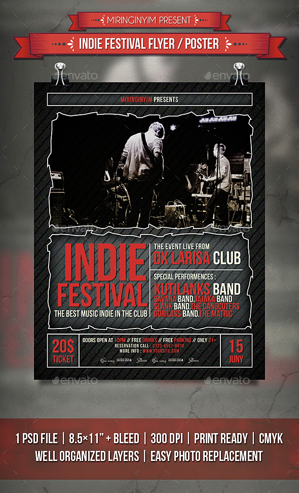 Indie Festival Flyer / Poster - Events Flyers