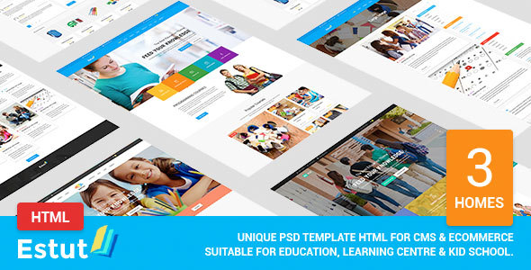 Estut - Educational Material Design HTML Template
