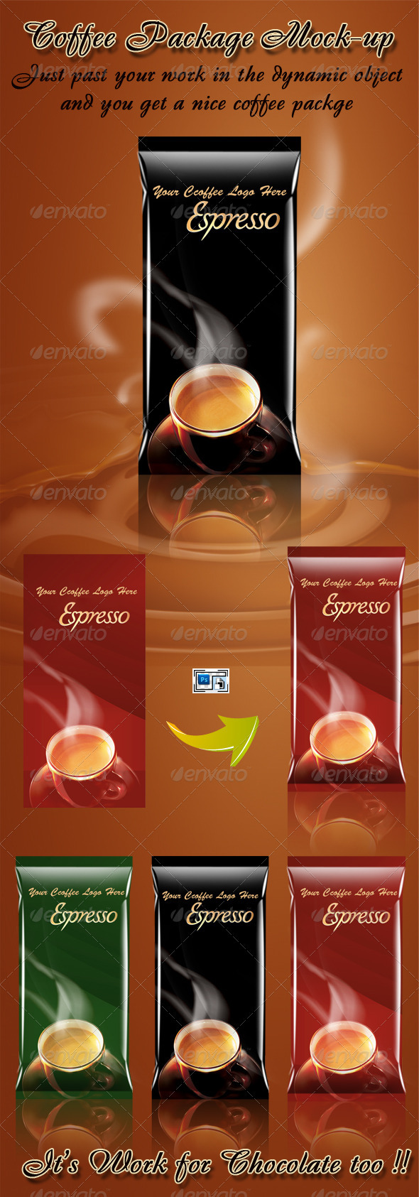 Coffee Package Mock-up - Food and Drink Packaging