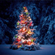 Colorful Christmas Tree In The Snow - VideoHive Item for Sale