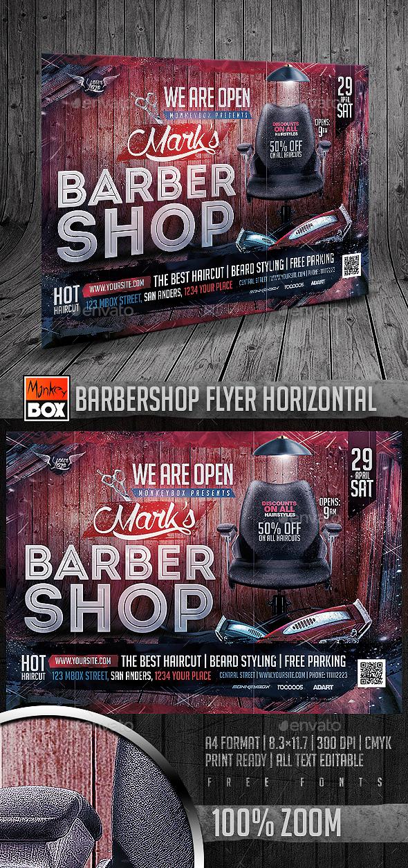 Barbershop Flyer Horizontal - Commerce Flyers