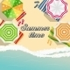 Summer Time Background. Sunny Beach In Flat Design - GraphicRiver Item for Sale