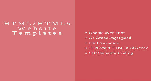 2016's Best HTML Website Template and HTML5 Templates