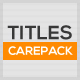 Titles Carepack - VideoHive Item for Sale
