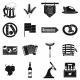 Oktoberfest Party Black Simple Icons - GraphicRiver Item for Sale