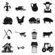 Farm Black Simple Icons Set - GraphicRiver Item for Sale