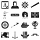 Happy Columbus Day Icons - GraphicRiver Item for Sale