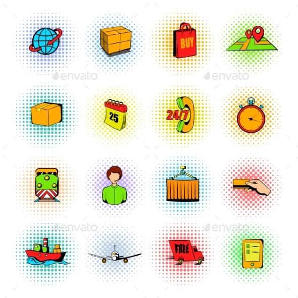 Logistics Comics Icons - Miscellaneous Icons