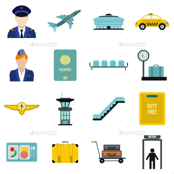 Airport Flat Icons - Miscellaneous Icons
