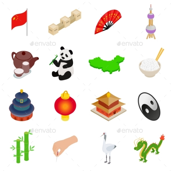 China Isometric 3d Icons - Miscellaneous Icons