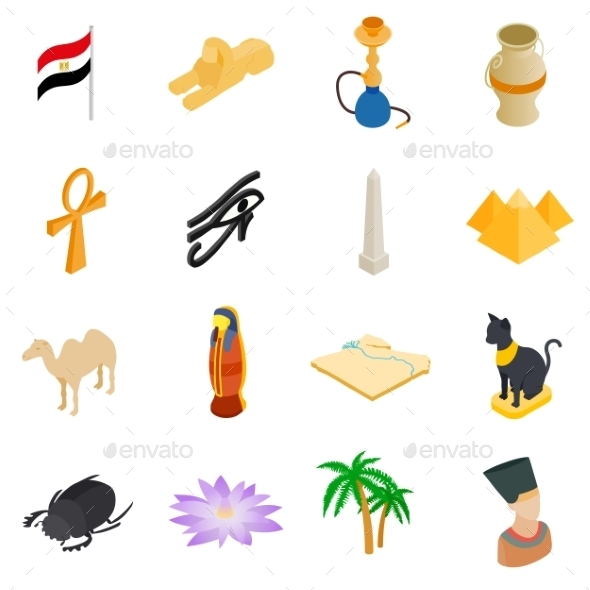 Egypt Isometric 3d Icons - Miscellaneous Icons