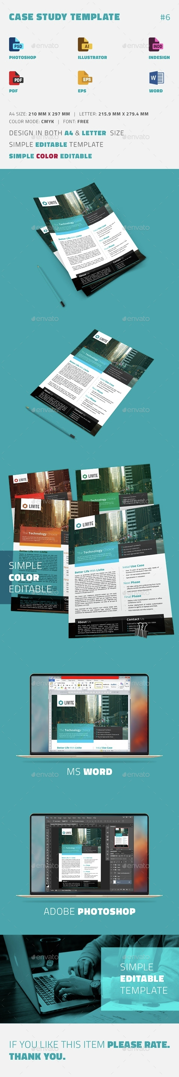 Case Study Template | Flyer - Newsletters Print Templates