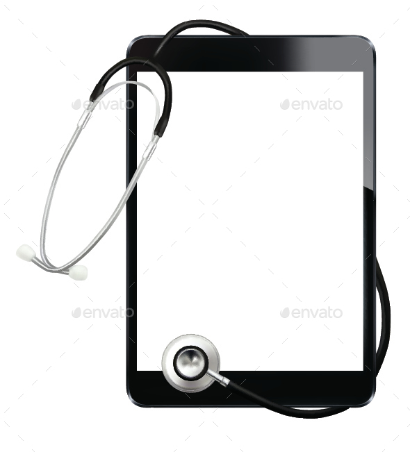 Stethoscope and Digital Tablet - Computers Technology