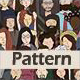 People Characters Seamless Pattern - GraphicRiver Item for Sale