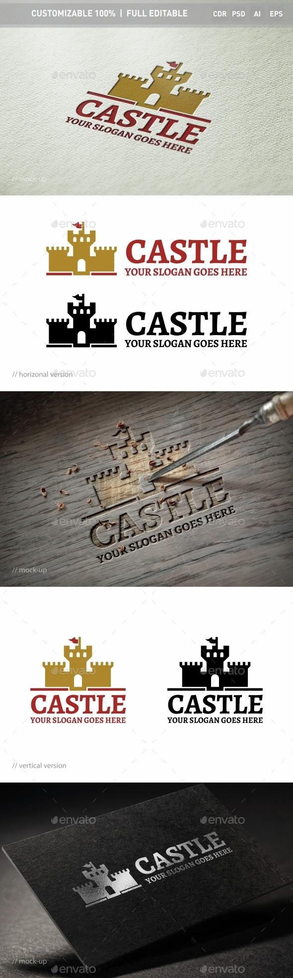 Castle Lock Logo Template - Objects Logo Templates